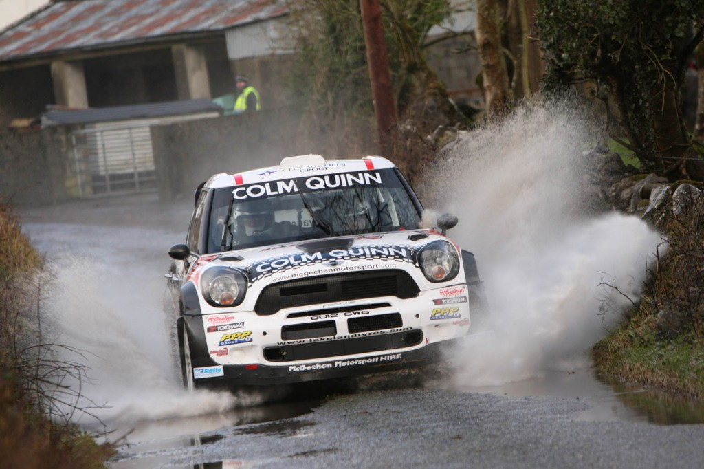 Eugene in action on a wet Galway rally