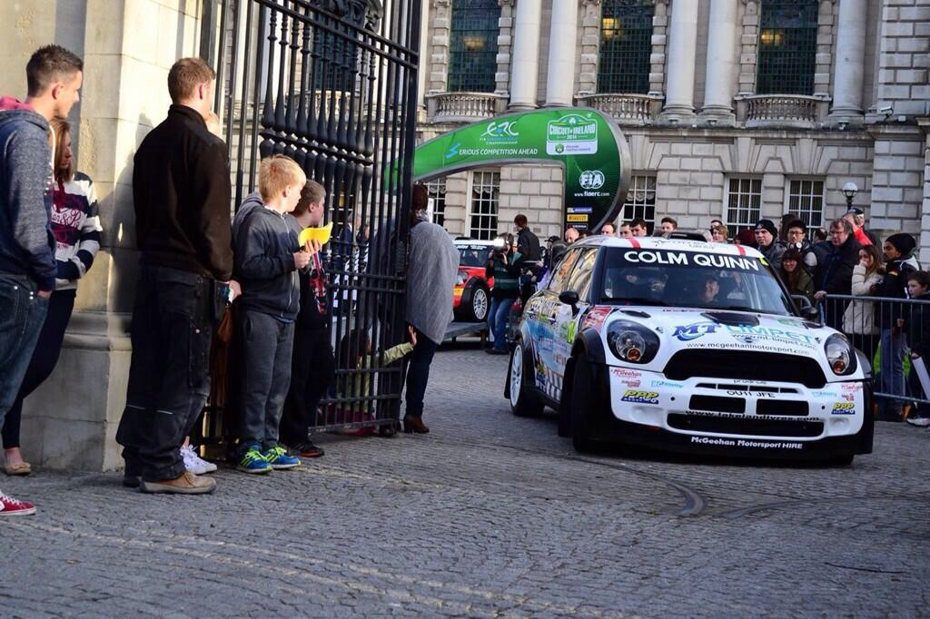 Donnelly Motorsport passes the crowds after the ceremonial start