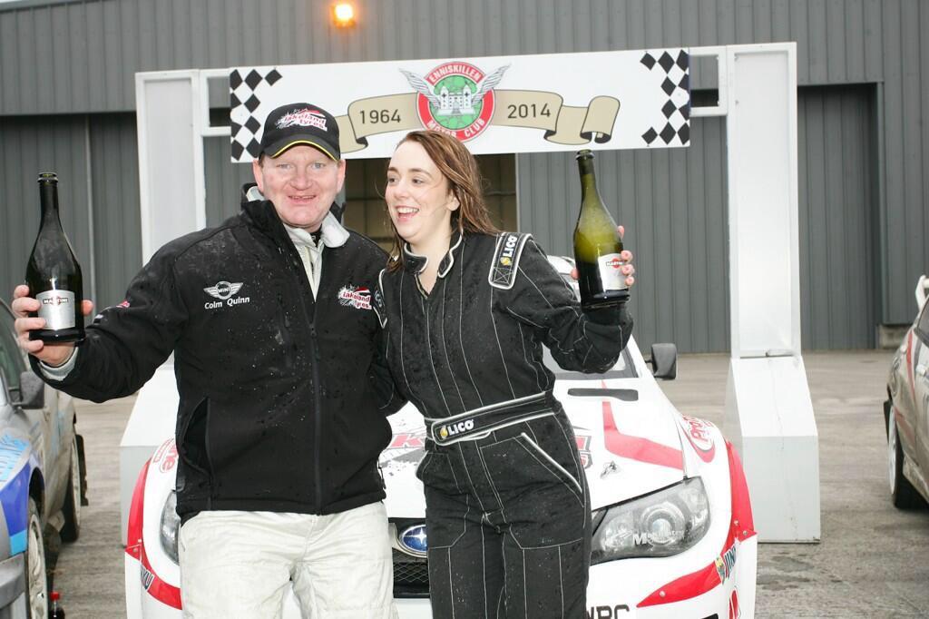 Eugene and Vicky celebrate victory